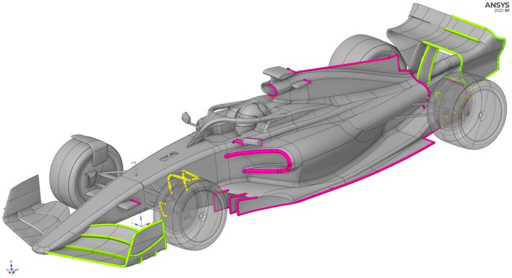Elementy aerodynamiczne ansys spaceclaim