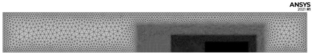 symulacja aerodynamiki: siatka domeny