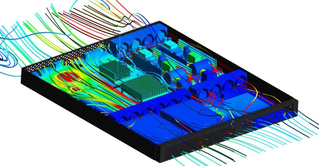 ansys fluent chłodzenie elektroniki