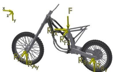 Analiza wytrzymałościowa ramy motocykla terenowego