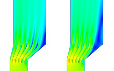 Optymalizacja kształtu kierownic w tłumiku spalin