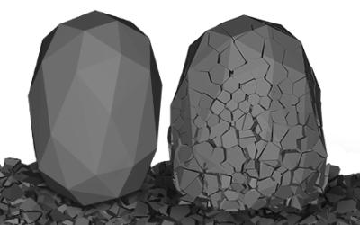 Modelowanie materiałów sypkich w Rocky DEM