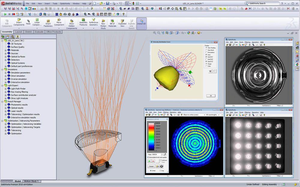 Projektowanie systemów optycznych w ANSYS